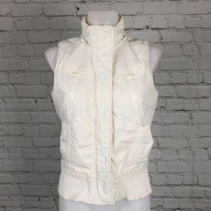 White/Cream Roxy Puffer Vest Medium